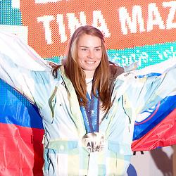 20100228: SLO, Reception of Slovenian 2 times silver medalist Tina Maze at Presernov trg, Ljubljana