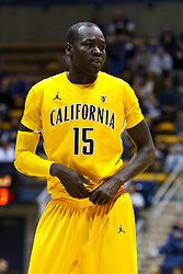March 16, 2011; Berkeley, CA, USA;  California Golden Bears forward Bak Bak (15) before a free throw against the Mississippi Rebels during the first half of the first round of the National Invitation Tournament at Haas Pavilion.