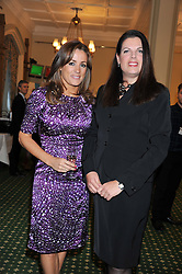 Left to right, NATALIE PINKHAM and CAROLINE NOKES MP at a reception for The Mirela Fund in partnership with Hope and Homes for Children hosted by Natalie Pinkham in The Churchill Room, House of Commons, London on 30th April 2013.