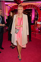 AMBER LE BON at The Naked Heart Foundation's Fabulous Fund Fair hosted by Natalia Vodianova and Karlie Kloss at Old Billingsgate Market, 1 Old Billingsgate Walk, London on 20th February 2016.