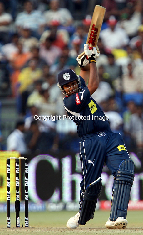 Deccan Chargers Batsman Rohit Sharma Hit The Shot Against Delhi Daredevils During The Indian Premier League - 15th match Twenty20 match 2009/10 season Played at Barabati Stadium, Cuttack 21 March 2010 - day/night (20-over match)
