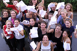 Chelmsford County High School for Girls, with their A-Level results. .August 18, 2000. Photo by Andrew Parsons/i-Images..