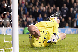 Tottenham's Brad Friedel during the penalty shoot out - Photo mandatory by-line: Mitchell Gunn/JMP - Tel: Mobile: 07966 386802 30/10/2013 - SPORT - FOOTBALL - White Hart Lane - London - Tottenham Hotspur v Hull City - Capital One Cup - Forth Round