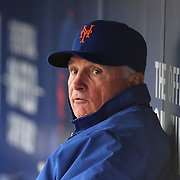 NEW YORK, NEW YORK - MAY 04:  New York Mets Manager Terry Collins in the dugout during the Atlanta Braves Vs New York Mets MLB regular season game at Citi Field on May 04, 2016 in New York City. (Photo by Tim Clayton/Corbis via Getty Images)