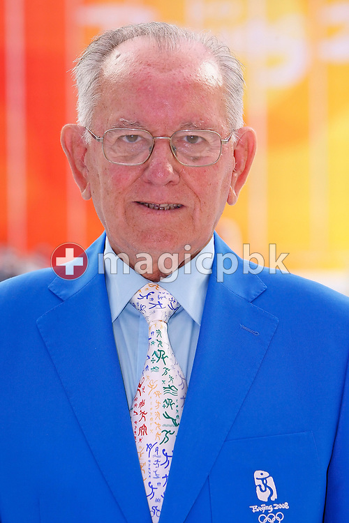 Prof. Ioan Dragan - member of FINA Sports Medicine - SMC - is pictured during a photo call held at the National Aquatics Center (Water Cube) at the Beijing 2008 Olympic Games in Beijing, China, Monday, Aug. 11, 2008. (Photo by Patrick B. Kraemer / MAGICPBK)