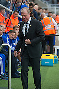 Newcastle United Manager Steve McClaren during the Barclays Premier League match between Newcastle United and Chelsea at St. James's Park, Newcastle, England on 26 September 2015. Photo by Craig McAllister.