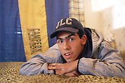 """CARLOS TEVEZ in his young years. (2001).Here file pictures of CARLOS TEVEZ, at his family house in """"FUERTE APACHE"""".© PikoPress"""