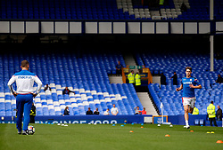 Stoke City's Philipp Wollscheid undergo's a fitness test before kick off - Mandatory by-line: Matt McNulty/JMP - 12/08/2017 - FOOTBALL - Goodison Park - Liverpool, England - Everton v Stoke City - Premier League