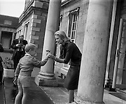 26/08/1963<br /> 08/26/1963<br /> 26 August 1963<br /> Royal Visit by Prince Rainier and Princess Grace of Monaco. Prince Rainier and Princess Grace and their two children, Prince Albert (5) and Princess Caroline (7) settling in at Carton House, Maynooth, Co. Kildare as they start their holiday. Picture shows Prince Albert presenting a rose from the garden of Carton House to his mother, Princess Grace.