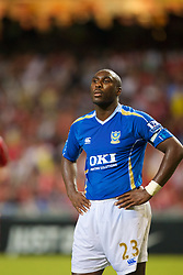 Hong Kong, China - Friday, July 27, 2007: Portsmouth's Sol Campbell in action against Liverpool during the final of the Barclays Asia Trophy at the Hong Kong Stadium. (Photo by David Rawcliffe/Propaganda)