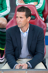 02.04.2016, Estadio San Mames, Bilbao, ESP, Primera Division, Athletic Club vs Real Betis, 31. Runde, im Bild Real Betis's coach Juan Merino // during the Spanish Primera Division 31th round match between Athletic Club and Real Betis at the Estadio San Mames in Bilbao, Spain on 2016/04/02. EXPA Pictures © 2016, PhotoCredit: EXPA/ Alterphotos/ Borja B.Hojas<br /> <br /> *****ATTENTION - OUT of ESP, SUI*****