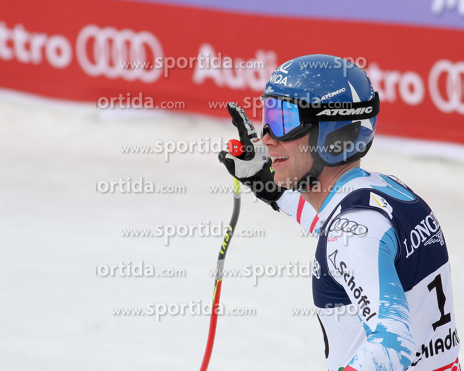 11.02.2013, Planai, Schladming, AUT, FIS Weltmeisterschaften Ski Alpin, Super Kombination, Abfahrt,  Herren, im Bild /Benjamin Raich (AUT) // Benjamin Raich of Austria reacts after his run of Mens Super Combined Downhill at the FIS Ski World Championships 2013 at the Planai Course, Schladming, Austria on 2013/02/11. EXPA Pictures © 2013, PhotoCredit: EXPA/ Martin Huber