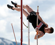 NEWS&amp;GUIDE PHOTO / PRICE CHAMBERS<br /> Jackson junior Jordan Thornock pole vaults to tie his personal best at 10 feet Friday at the 3-A West Regional Track and Field meet at William T. McIntosh stadium. Thornock came in seventh place for the event.