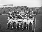 17/03/1960<br /> 03/17/1960<br /> 17 March 1960<br /> Soccer: League of Ireland v Hessen Football Association at Dalymount Park, Dublin. The League of Ireland team that defeated the Hessian League 5-2 on St Patrick's Day.