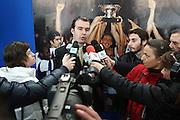 BARI 12.04.2010<br /> PIAZZA FERRARESE-SALA MURAT<br /> CONFERENZA STAMPA DI PRESENTAZIONE DEGLI INCONTRI<br /> DI QUALIFICAZIONE AI CAMPIONATI EUROPEI 2011<br /> NELLA FOTO INTERVISTA AL COACH DELLA NAZIONALE ITALIANA SIMONE PIANIGIANI