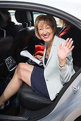 © Licensed to London News Pictures . 07/07/2016 . London , UK . Conservative Party leadership candidate ANDREA LEADSOM gets in to a car after delivering a speech at Millbank Tower in Westminster , this morning (Thursday 7th July 2016) . Photo credit : Joel Goodman/LNP