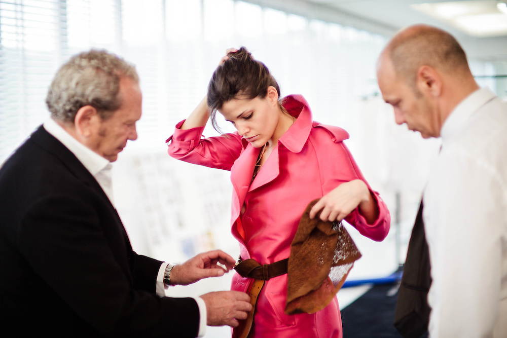 04 MAY 2011 - Grassina (FI) - Ermanno Daelli e Toni Scervino, stilisti e industriali della moda, nella sede della Ermanno Scervino