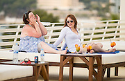 EXCLUSIVE - White Dee Holidays in Magaluf<br /> <br /> Benefit Street star White Dee looks like she is on the up pictured on Holiday In Magaluf Dee was also seen talking to American Country singer Brooke Nickerson <br /> ©Exclusivepix