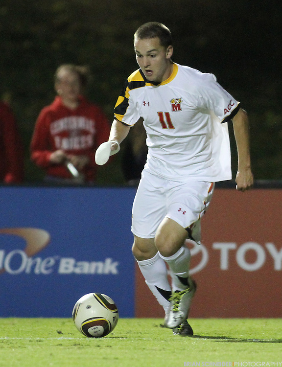 Oct 23, 2010; College Park, MD, USA; Maryland Terrapins forward Casey Townsend (11) against the Wake Forest Demon Deacons. Mandatory Credit: Brian Schneider-www.ebrianschneider.com