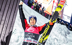 14.03.2019, Granasen, Trondheim, NOR, FIS Weltcup Skisprung, Raw Air, Trondheim, Einzelbewerb, Herren, Siegerehrung, im Bild 3. Platz Stefan Kraft (AUT) // 3rd placed Stefan Kraft of Austria during the winner ceremony for the men's individual competition of the 3rd Stage of the Raw Air Series of FIS Ski Jumping World Cup at the Granasen in Trondheim, Norway on 2019/03/14. EXPA Pictures © 2019, PhotoCredit: EXPA/ JFK