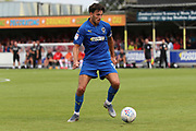 AFC Wimbledon defender Will Nightingale (5) dribbling during the EFL Sky Bet League 1 match between AFC Wimbledon and Rotherham United at the Cherry Red Records Stadium, Kingston, England on 3 August 2019.