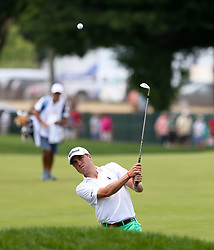 June 22, 2018 - Cromwell, Connecticut, United States - Justin Thomas chips on to the 9th green during the second round of the Travelers Championship at TPC River Highlands. (Credit Image: © Debby Wong via ZUMA Wire)
