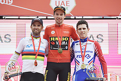 March 2, 2019 - Dubai, Emirati Arabi Uniti, Emirati Arabi Uniti - Foto LaPresse - Fabio Ferrari.02 Marzo 2019 Dubai (Emirati Arabi Uniti).Sport Ciclismo.UAE Tour 2019 - Tappa 7 - da Dubai Safari Park a City Walk - 145 km.Nella foto: 1 - Primoz Roglic (Team Jumbo - Visma).2 - Alejandro Valverde (Movistar Team) .3 - David Gaudu (Groupama - FDJ)..Photo LaPresse - Fabio Ferrari.March 02, 2019 Dubai (United Arab Emirates) .Sport Cycling.UAE Tour 2019 - Stage 7 - From Dubai Safari Park to City Walk  - 90 miles..In the pic:1 - Primoz Roglic (Team Jumbo - Visma).2 - Alejandro Valverde (Movistar Team) .3 - David Gaudu  (Credit Image: © Fabio Ferrari/Lapresse via ZUMA Press)