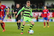 Forest Green Rovers Elliott Frear(11) passes the ball during the Vanarama National League match between Forest Green Rovers and Aldershot Town at the New Lawn, Forest Green, United Kingdom on 5 November 2016. Photo by Shane Healey.