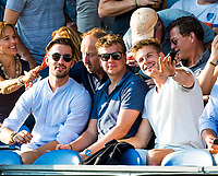 BREDA - (oud) internationals Martijn Havenga, Constantijn Jonker en Sander de Wijn    tijdens Nederland- Australie bij  de Hockey Champions Trophy. COPYRIGHT KOEN SUYK