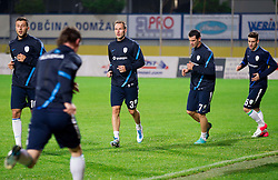 Dominc Maroh, Dejan Kelhar, Mirnes Sisic and Andraz Struna during practice session of Slovenian National football team prior to the friendly match against Former Yugoslav republic of Macedonia on November 12, 2012 in Domzale, Slovenia. (Photo By Vid Ponikvar / Sportida)