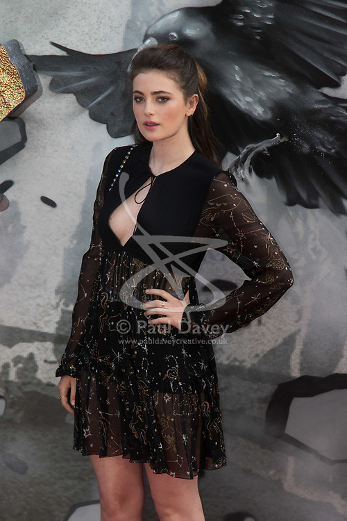 London, May 10th 2017. Millie Brady attends the European premiere of King Arthur - Legend of the Sword at the Cineworld Empire in Leicester Square.