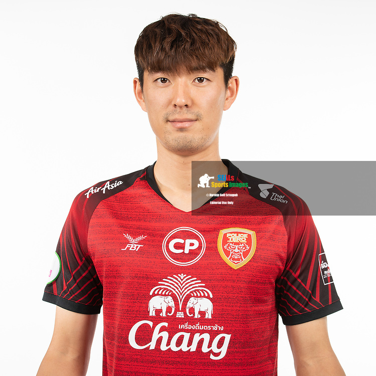 THAILAND - MARCH 05: Kwon Daehee #19 of Police Tero FC on March 05, 2019.<br /> .<br /> .<br /> .<br /> (Photo by: Naratip Golf Srisupab/SEALs Sports Images/MB Media Solutions)