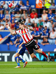 Sebastian Coates of Sunderland is fouled  - Mandatory byline: Jack Phillips/JMP - 07966386802 - 08/08/2015 - SPORT - FOOTBALL - Leicester - King Power Stadium - Leicester City v Sunderland - Barclays Premier League