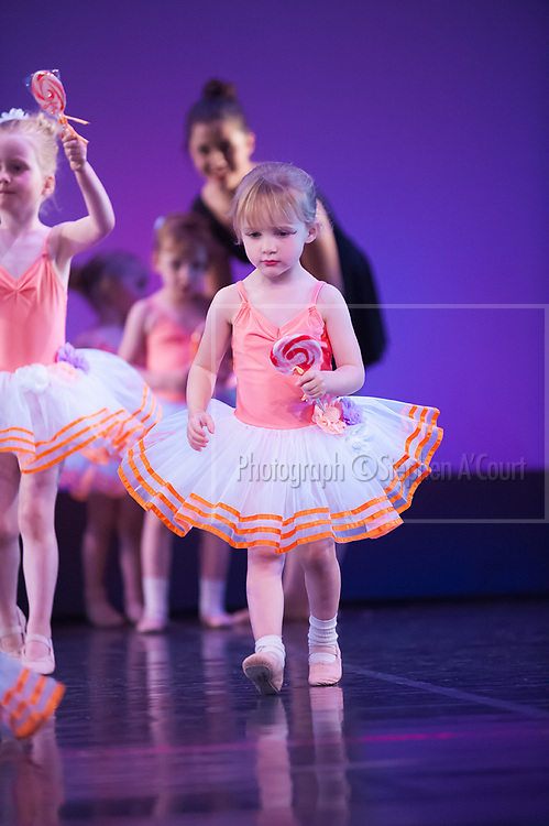 Wellington, NZ. 5.12.2015. Lollipop March, from the Wellington Dance & Performing Arts Academy end of year stage-show 2015. Little Show, Saturday 3.15pm. Photo credit: Stephen A'Court.  COPYRIGHT ©Stephen A'Court