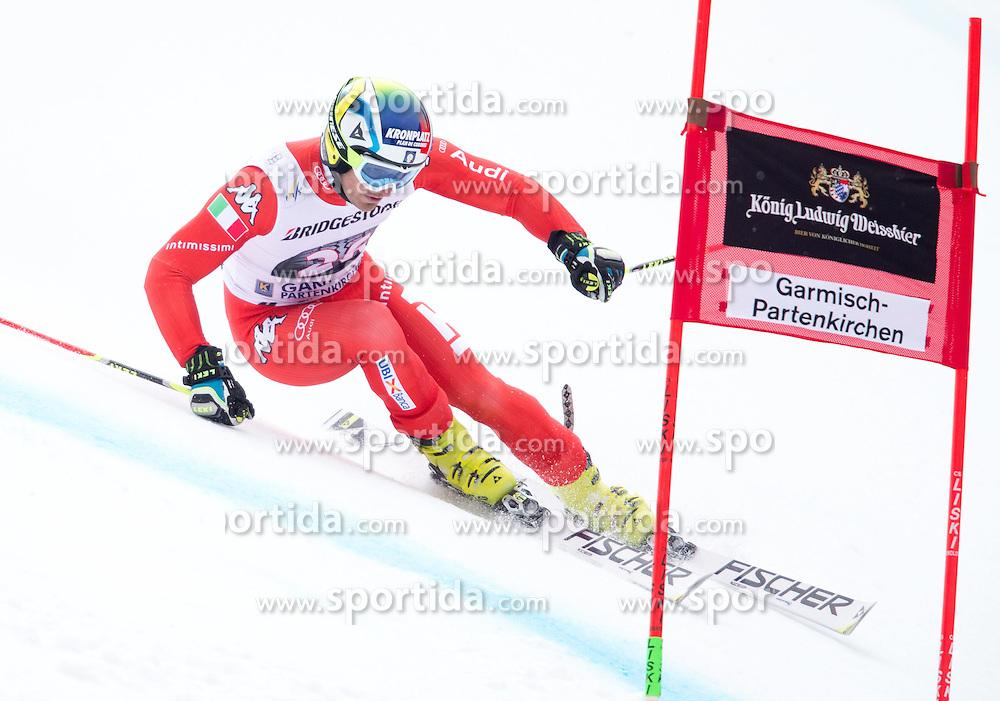 01.03.2015, Kandahar, Garmisch Partenkirchen, GER, FIS Weltcup Ski Alpin, Riesenslalom, Herren, 1. Lauf, im Bild Manfred Moelgg (ITA) // Manfred Moelgg of Italy in action during 1st run for the men's Giant Slalom of the FIS Ski Alpine World Cup at the Kandahar course, Garmisch Partenkirchen, Germany on 2015/03/01. EXPA Pictures © 2015, PhotoCredit: EXPA/ Johann Groder