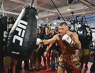 Conor McGregor Hosts Las Vegas Media Workout - 11 Aug 2017