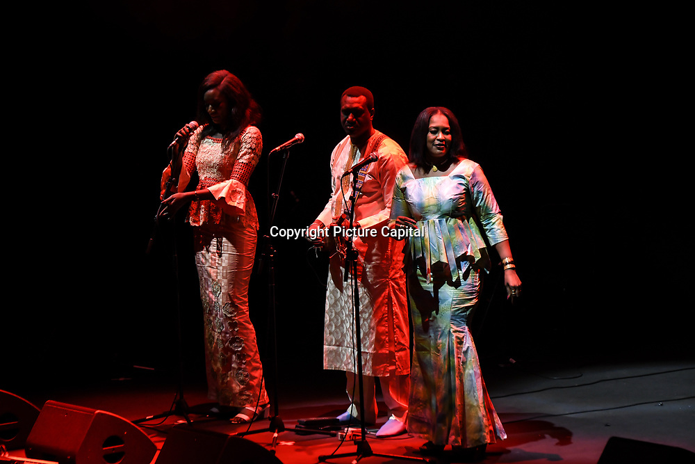Kanugnon by Oumou Kouyate,Basel Rajoub & Amy Sacko at the Jubilee - Master Musicians of the Aga Khan Music Initiative at the Royal Albert Hall, London, UK on June 20 2018.