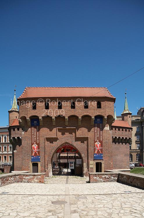 Eastern Europe Poland Malopolska Krakow Barbikan Fortress