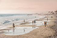 Venice Beach Los Angelos, looking at Santa Monica pier