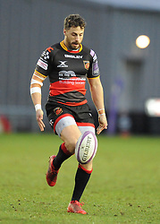 Dragons Dorian Jones<br /> <br /> Photographer Mike Jones/Replay Images<br /> <br /> European Rugby Challenge Cup Round 6 - Dragons v Bordeaux Begles - Saturday 20th January 2018 - Rodney Parade - Newport<br /> <br /> World Copyright © Replay Images . All rights reserved. info@replayimages.co.uk - http://replayimages.co.uk