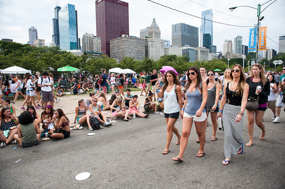 The crowd at Lollapalooza