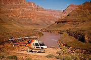 Colorado river at the base of the Bridge Canyon along the west rim of the Grand Canyon National Park inside the Hualapai Indian Reservation, Arizona, USA