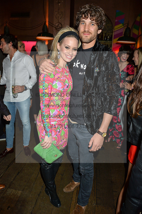 KIMBERLY WYATT and MAX ROGERS at a party to celebrate the launch of fashion retailer WeKoko.com held at Sketch, 9 Conduit Street, London on 13th April 2016.