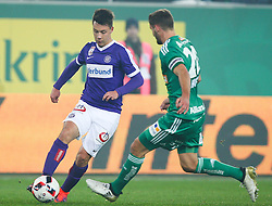 23.10.2016, Allianz Stadion, Wien, AUT, 1. FBL, SK Rapid Wien vs FK Austria Wien, 12 Runde, im Bild Dominik Prokop (FK Austria Wien) und Maximilian Hofmann (SK Rapid Wien) // during Austrian Football Bundesliga Match, 12th Round, between SK Rapid Vienna and FK Austria Wien at the Allianz Stadion, Vienna, Austria on 2016/10/23. EXPA Pictures © 2016, PhotoCredit: EXPA/ Thomas Haumer