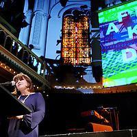 Nederland, Amsterdam , 17 november 2012..Lilianne Ploumen (Minister Buitenlandse Handel en Ontwikkelingssamenwerking) tijdens de opening van Afrikadag in poptempel Paradiso..Foto:Jean-Pierre Jans