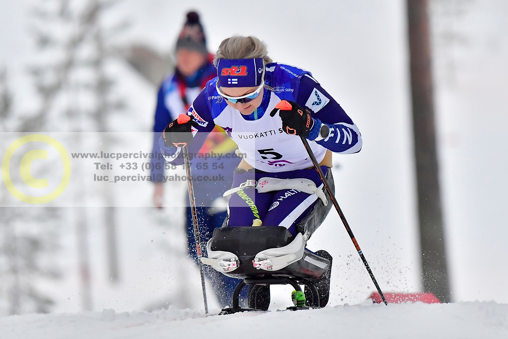 PYY Sini, FIN, LW11 at the 2018 ParaNordic World Cup Vuokatti in Finland
