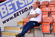 Accrington Stanley Manager, John Coleman   during the EFL Sky Bet League 1 match between Blackpool and Accrington Stanley at Bloomfield Road, Blackpool, England on 25 August 2018.