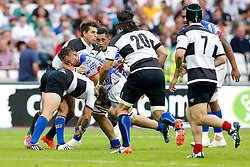 Samoa Flanker Jack Lam in action - Mandatory byline: Rogan Thomson/JMP - 07966 386802 - 29/08/2015 - RUGBY UNION - The Stadium at Queen Elizabeth Olympic Park - London, England - Barbarians v Samoa - International Friendly.