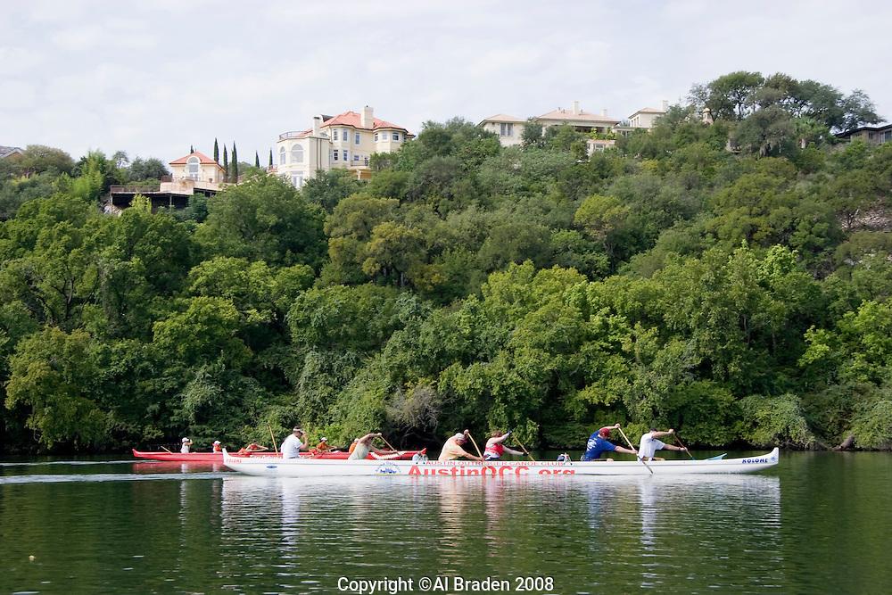 Austin Outrigger Canoe Club on Lady Bird Lake, Austin, Texas