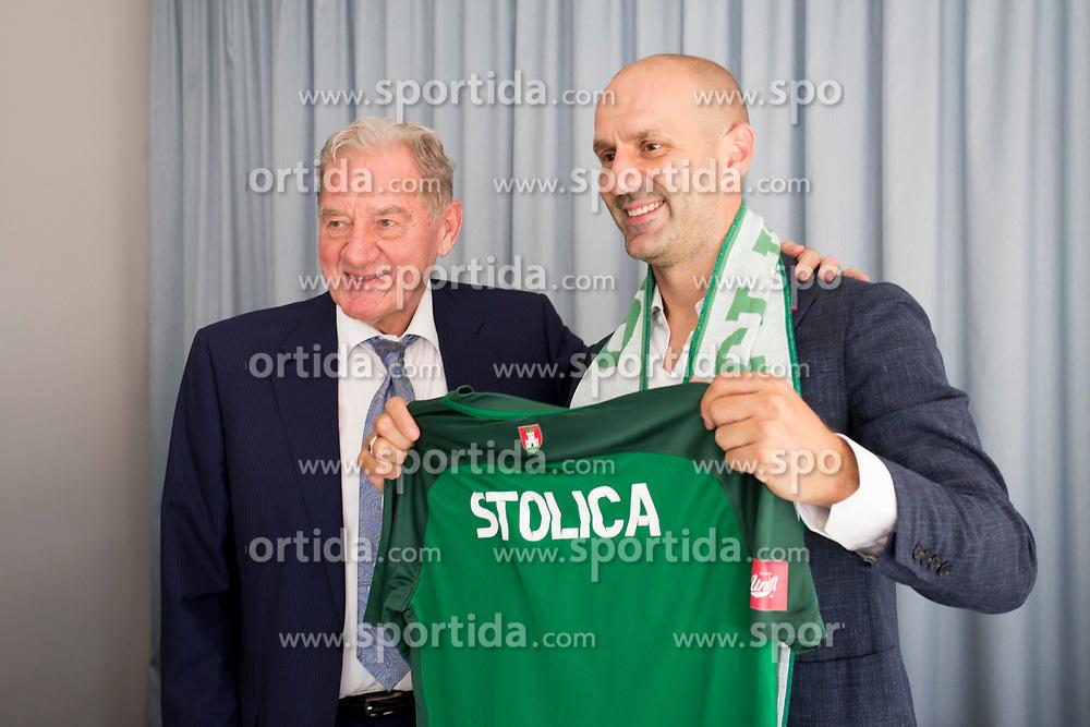 Milan Mandaric and Ilija Stolica at presentation of new head coach of NK Olimpija Ljubljana, on June 12, 2018 in Ljubljana, Slovenia. Photo by Urban Urbanc / Sportida